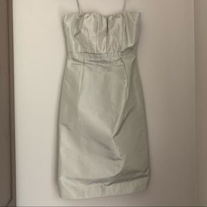 JCrew Silver Sleeveless Dress